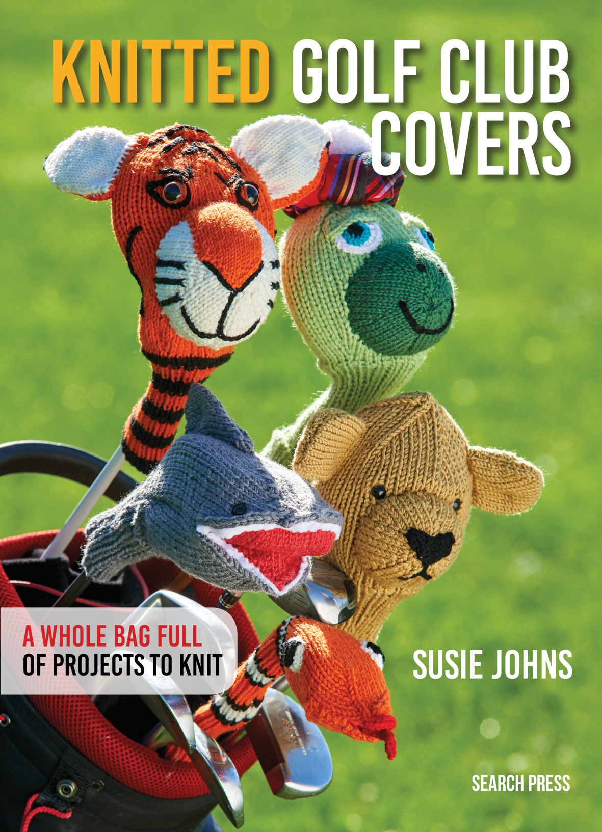Search Press | Knitted Golf Club Covers by Susie Johns