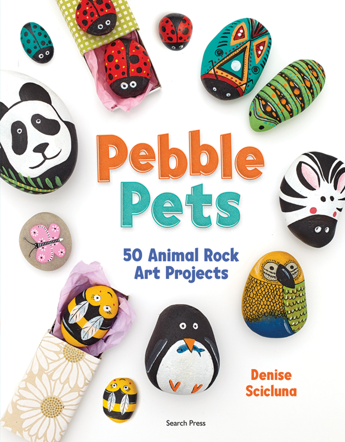 Search Press | Pebble Pets by Denise Scicluna