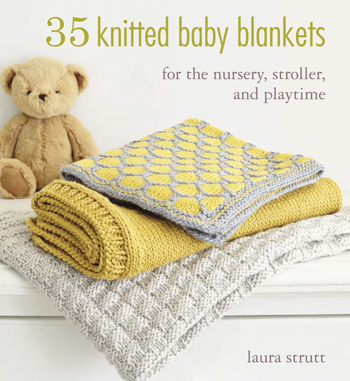 Knitting For Babies Books : Search press knitted baby blankets by laura strutt