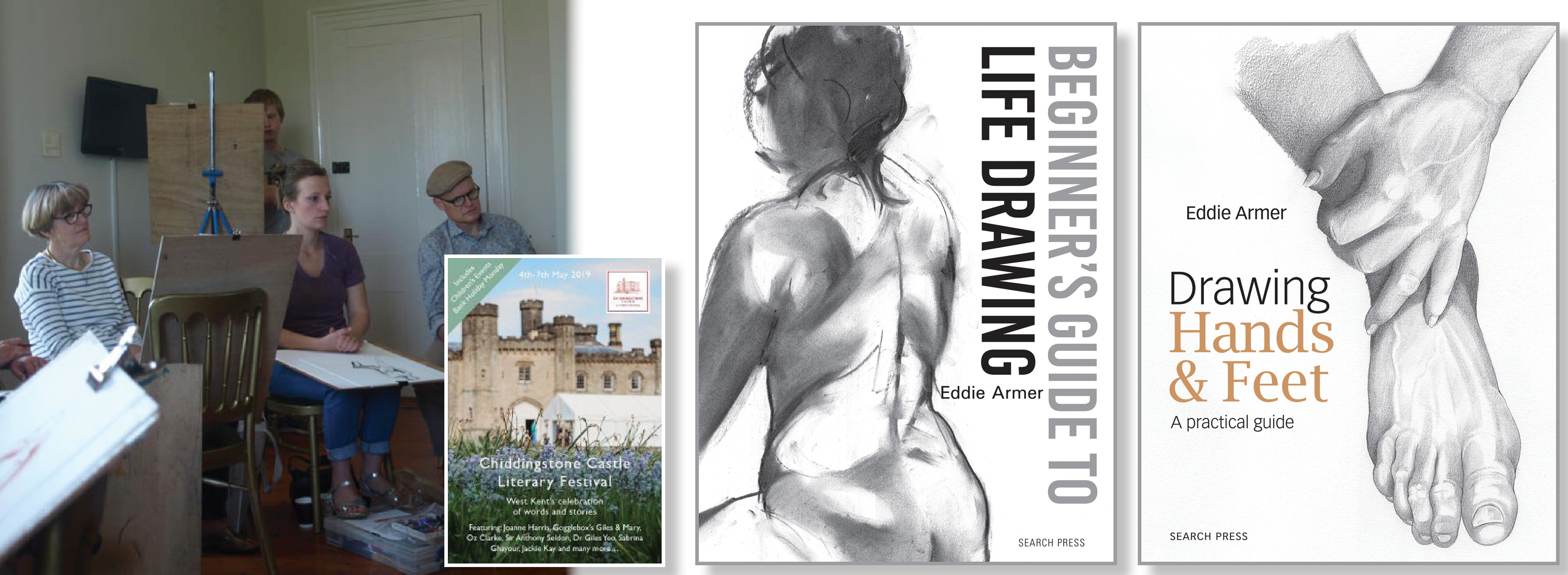 Eddie Armer - Life Drawing Workshops at Chiddingstone Literary Festival