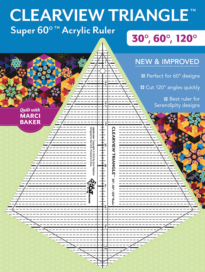Clearview Triangle Super 60° Acrylic Ruler