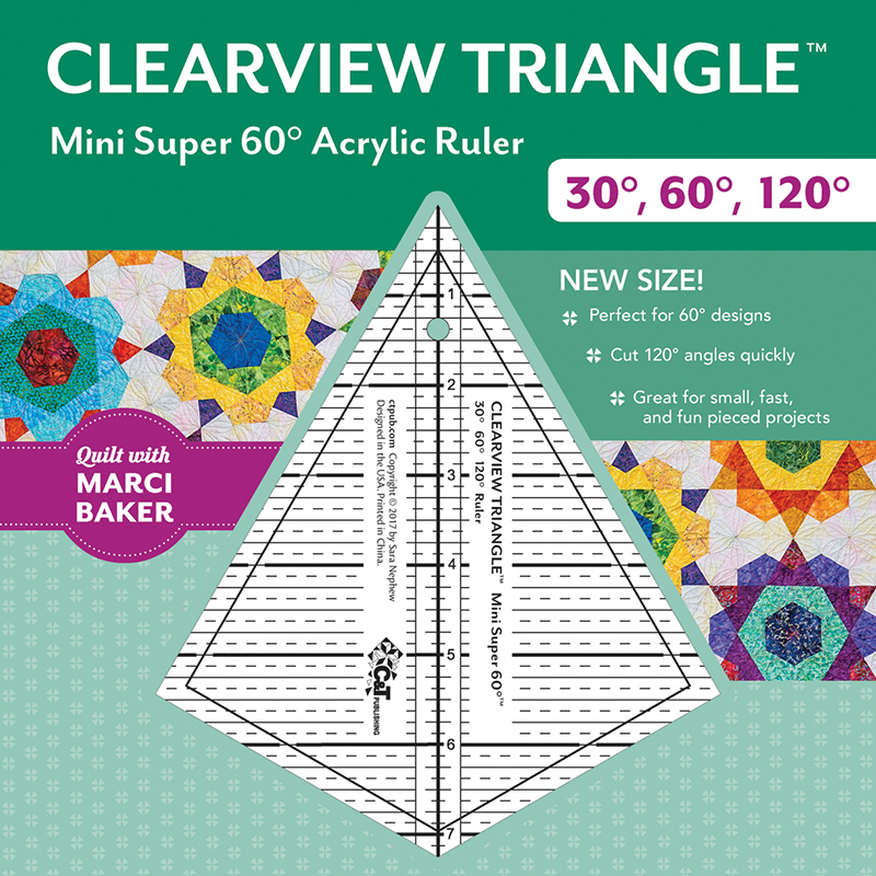 Clearview Triangle Mini Super 60° Acrylic Ruler