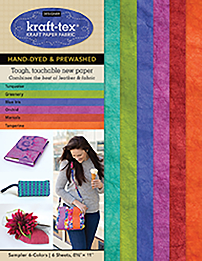 kraft-tex® Designer 6-Color Sampler Pack, 6 Sheets, 8 1/2