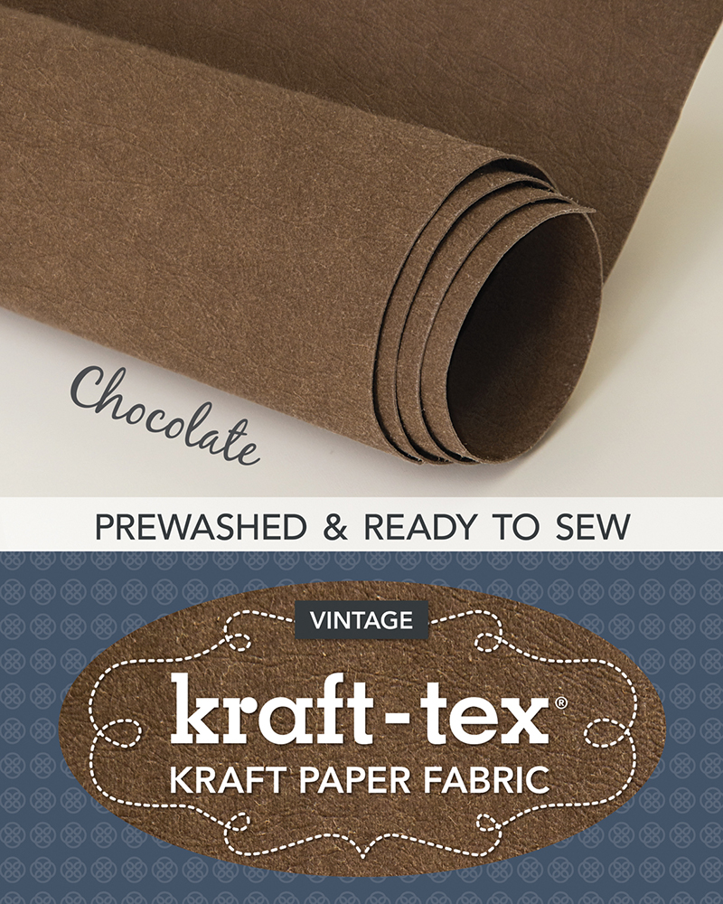 kraft-tex® Roll, Chocolate Prewashed