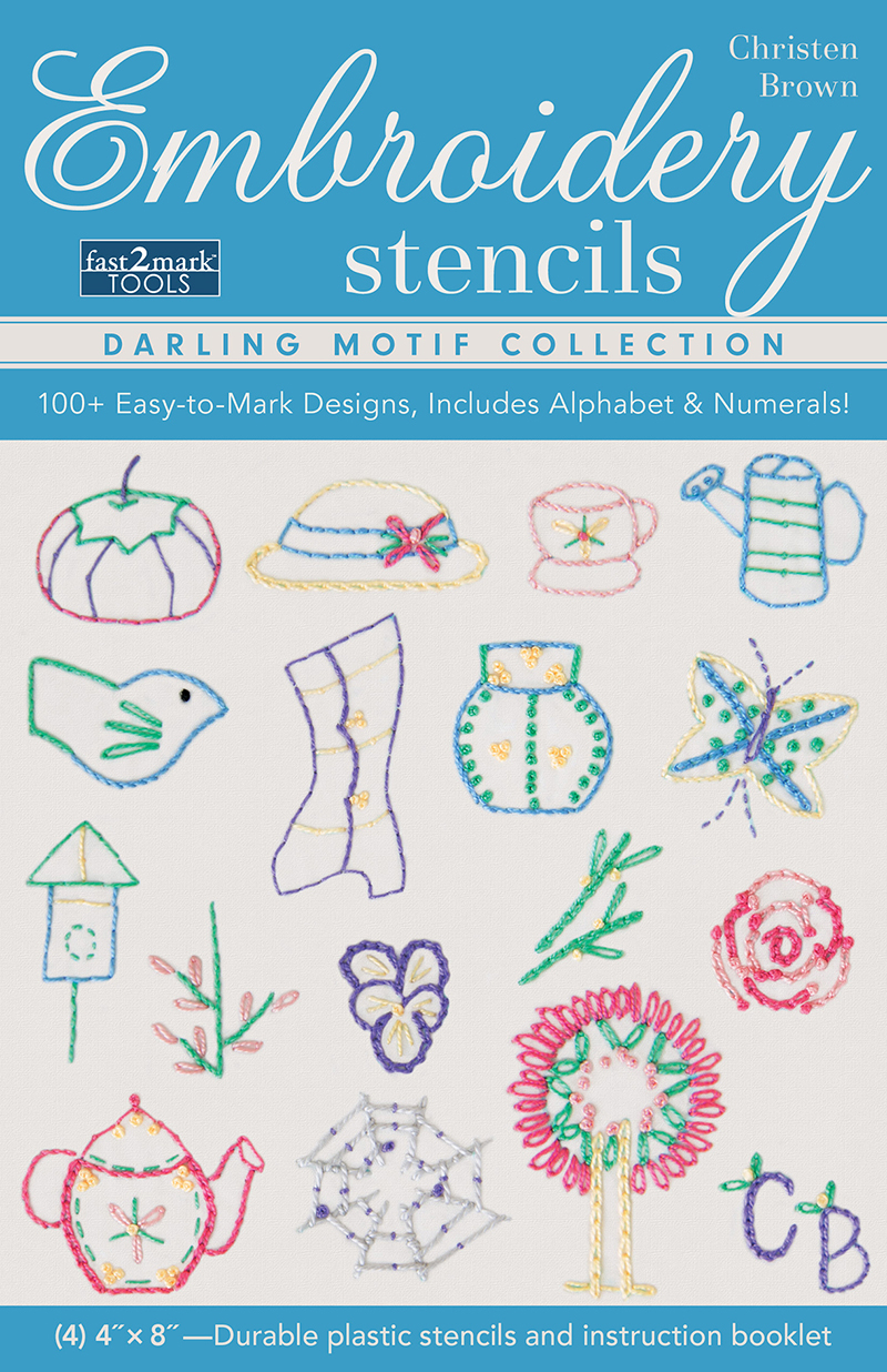 Embroidery Stencils Darling Motif Collection