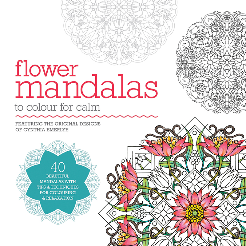 Flower Mandalas to Colour for Calm