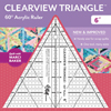 Clearview Triangle 60° Acrylic Ruler 6