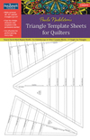 fast2mark Paula Nadelsterns Triangle Template Sheets for Quilters