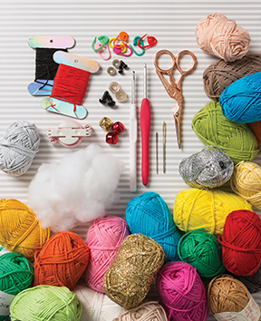 The basic tools you will need to start crocheting!