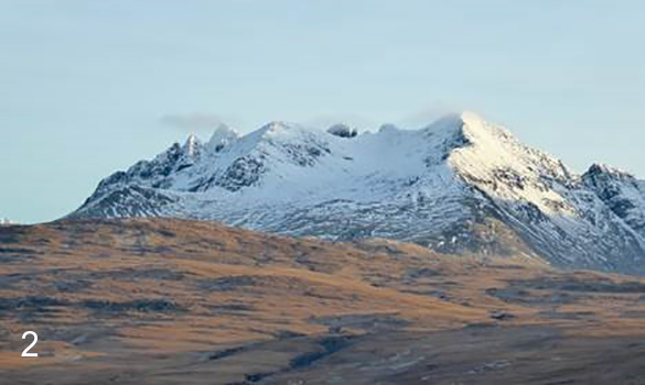 Photograph of the Cuillin from further north